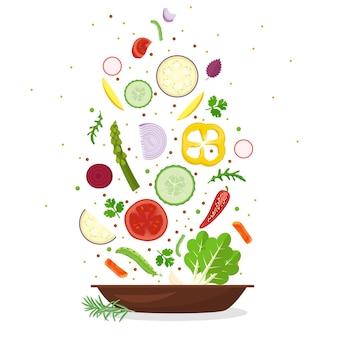 Gezond voedsel plantaardige plaat