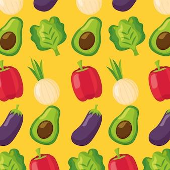 Gezond voedsel vers patroon