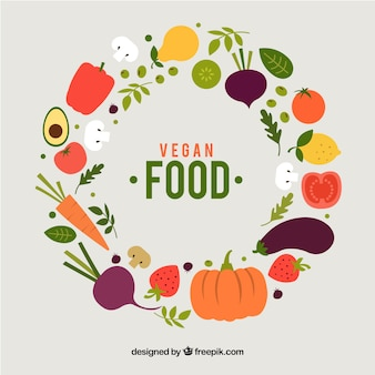 Gezond voedselkader met vlak ontwerp