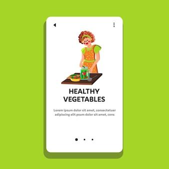 Gezonde groenten bewaren in pot vrouw vector. huisvrouw voorbereiding van gezonde groenten conserven. karakter koken en beitsen biologische rijpe oogst voedsel web platte cartoon afbeelding