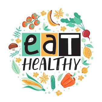 Gezonde levensstijl . eet gezond.