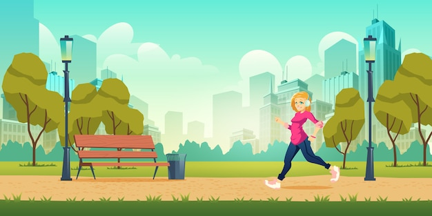 Gezonde levensstijl, lichamelijke activiteit buitenshuis en fitness in moderne metropool