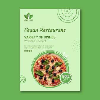 Gezonde restaurant flyer