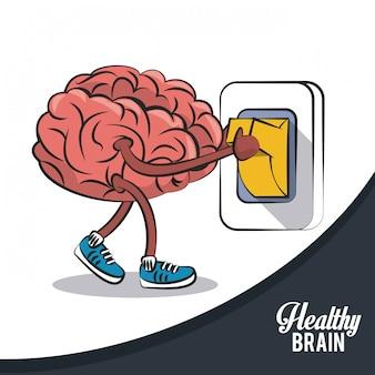 Gezonde schakelaar voor het wisselen van hersenen