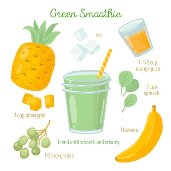 Gezonde smoothie recept concept