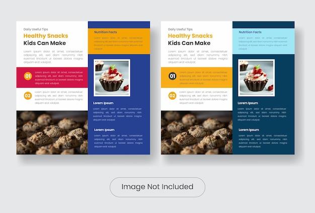 Gezonde snack instagram post banner sjabloon set