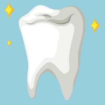 Gezonde tand in dichte omhooggaand
