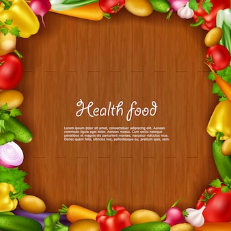 Gezonde voeding achtergrond