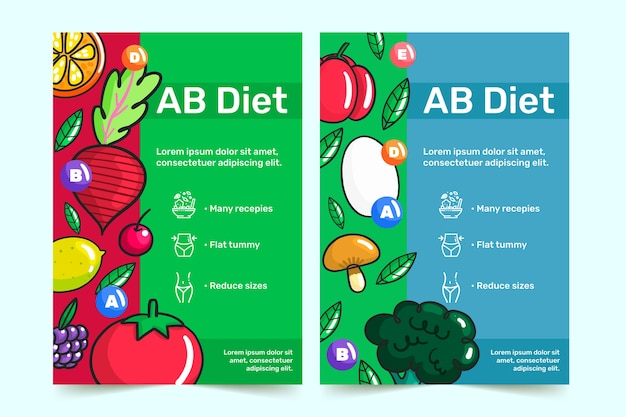 Gezonde voeding flyer ontwerp
