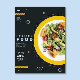 Gezonde voeding restaurant flyer met foto