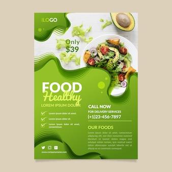 Gezonde voeding restaurant flyer sjabloonontwerp