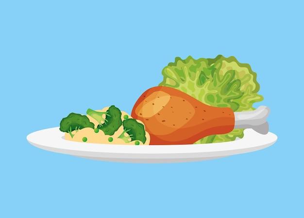 Gezonde voeding vector