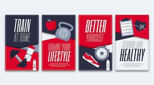 Gezondheid en fitness instagram verhalencollectie
