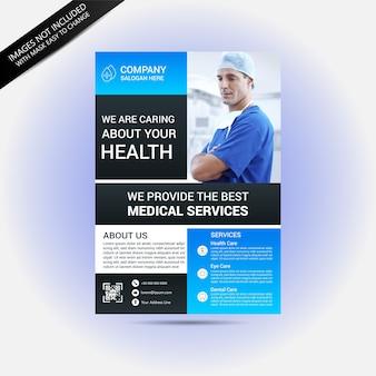 Gezondheid en medische concept flyer