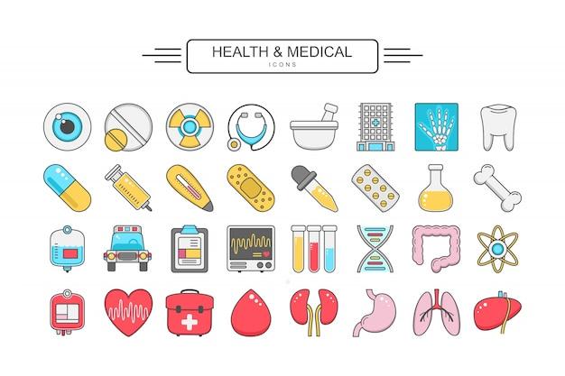 Gezondheid en medische pictogram
