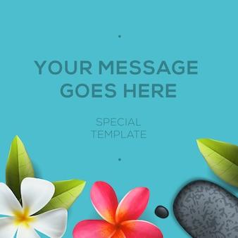 Gezondheid en schoonheidssjabloon, concept voor spa-salon Premium Vector