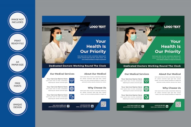 Gezondheid flyer ontwerp