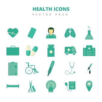 Gezondheid icons vector pack