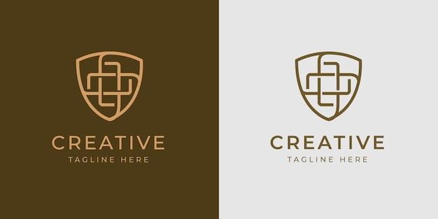Gezondheid immuun schild logo ontwerpsjabloon