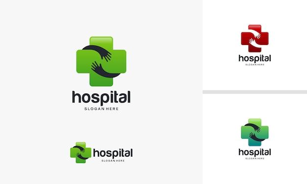 Gezondheid logo ontwerpen sjabloon, medisch logo in moderne stijl