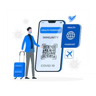 Gezondheid paspoort concept illustratie