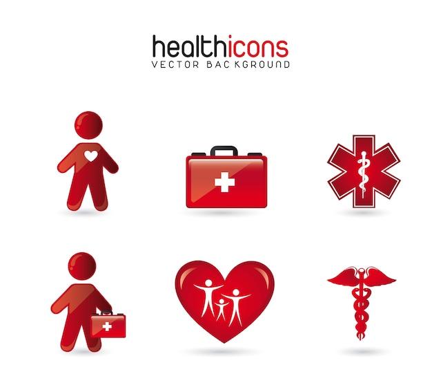 Gezondheid pictogrammen