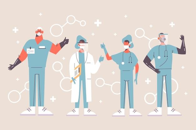 Gezondheid professioneel teamontwerp