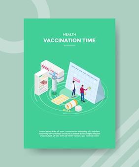 Gezondheid vaccinatie tijd flyer-sjabloon