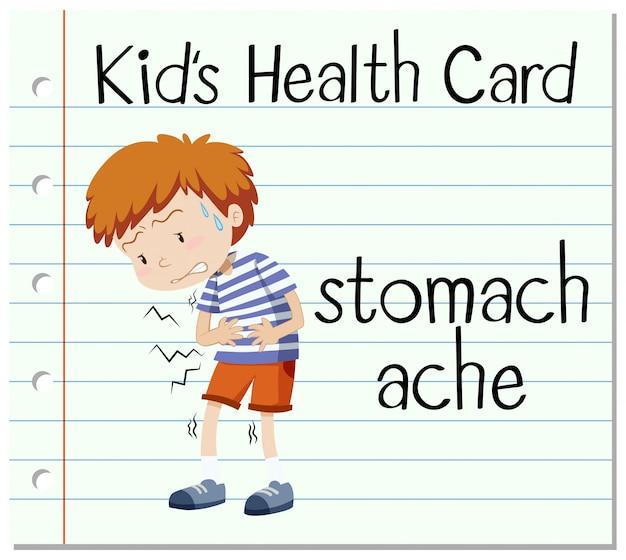 Gezondheidsflitskaart met buikpijn