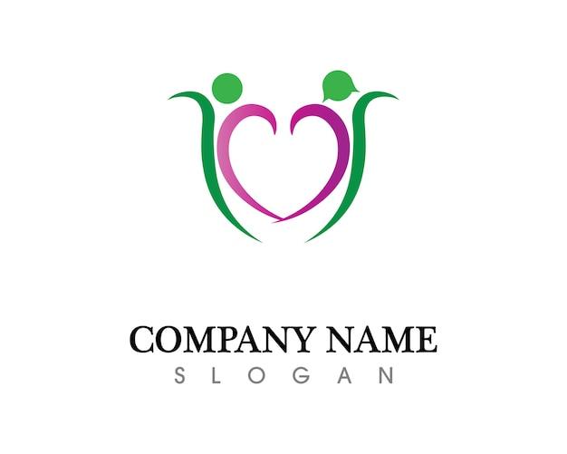 Gezondheidssucces mensen geven om logo