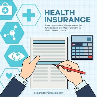 Gezondheidsverzekering's document en claculator