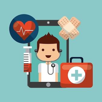 Gezondheidszorg conceptontwerp, vector grafische illustratie eps10