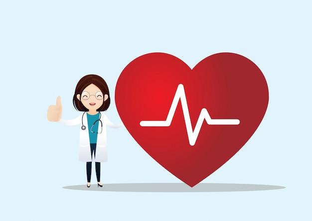 Gezondheidszorg en cardiologie concept