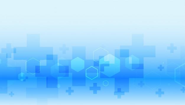 Gezondheidszorg en medisch in blauwe kleur