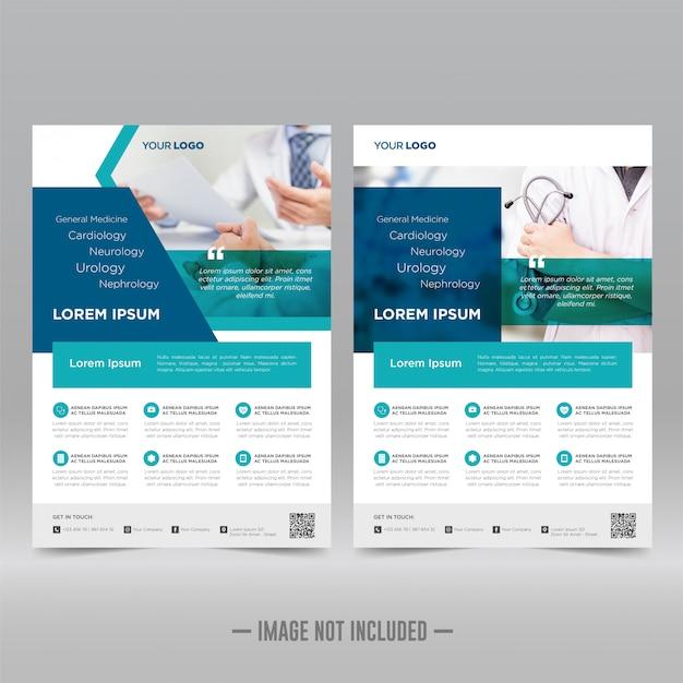 Gezondheidszorg en medische folder sjabloon