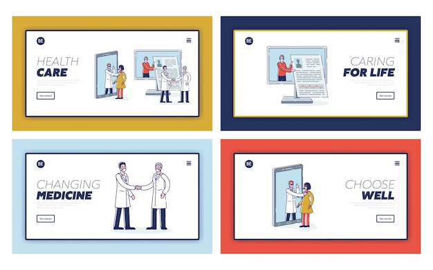 Gezondheidszorg en online geneeskundeconcept