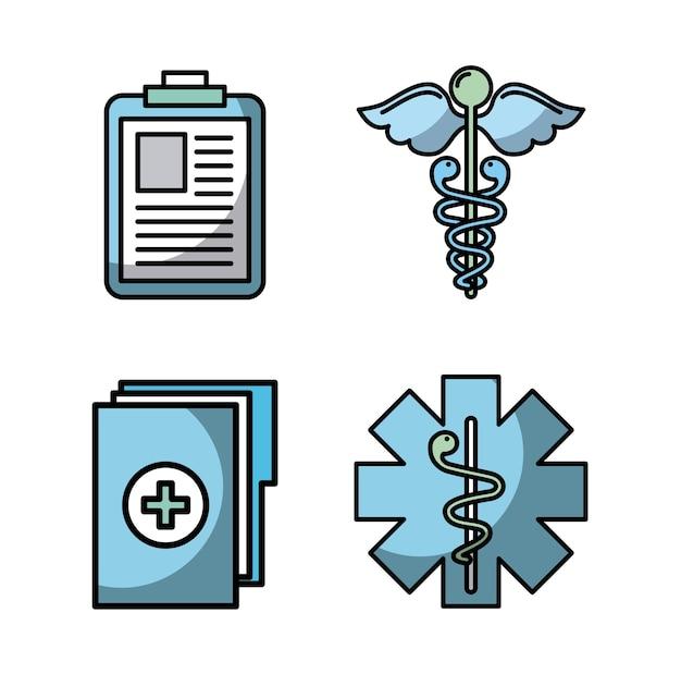 Gezondheidszorg gerelateerde pictogrammen