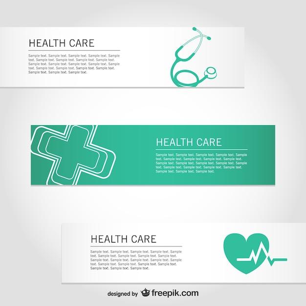 Gezondheidszorg gratis vector banners