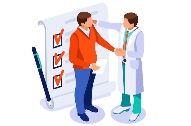 Gezondheidszorg isometrisch concept