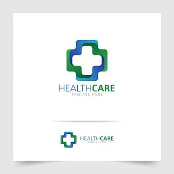 Gezondheidszorg logo-ontwerp met modern concept