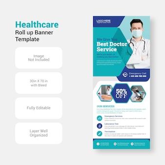 Gezondheidszorg medisch ziekenhuis folder sjabloon