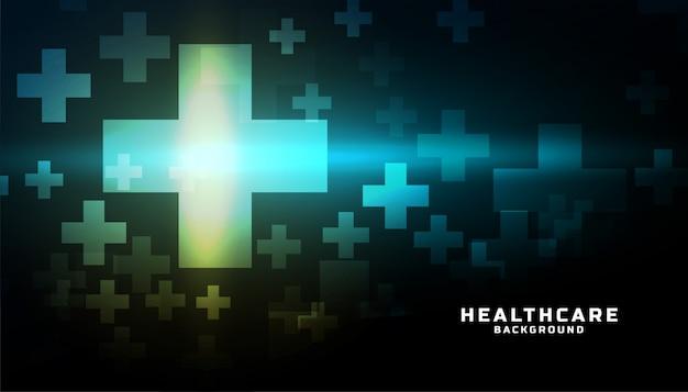 Gezondheidszorg medische achtergrond met plus symbolen ontwerp