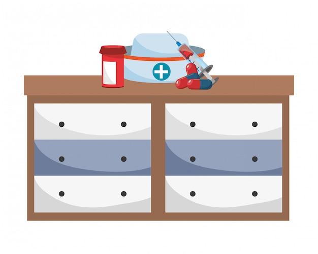 Gezondheidszorg medische cartoon