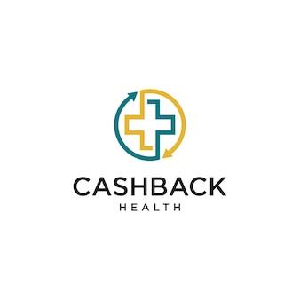 Gezondheidszorg met rode kruis logo witte achtergrond bruikbaar voor business en branding logo's platte vector logo design template element