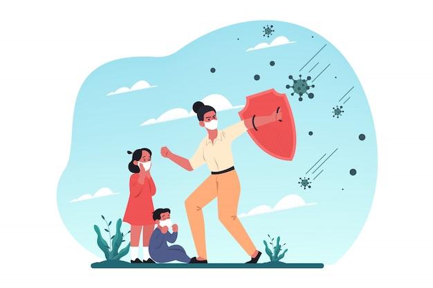 Gezondheidszorg, moederschap, covid19, infectie, 2019ncov, coronavirus, beschermingsconcept