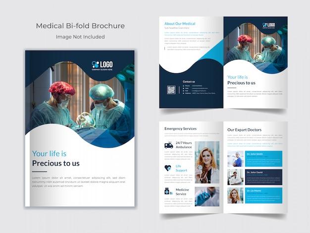 Gezondheidszorg of medische brochuremalplaatje