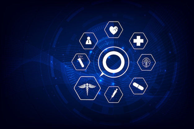 Gezondheidszorg pictogram patroon medische innovatie achtergrond