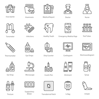Gezondheidszorg pictogrammen pack