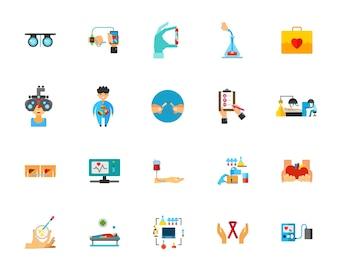 Gezondheidszorg pictogramserie