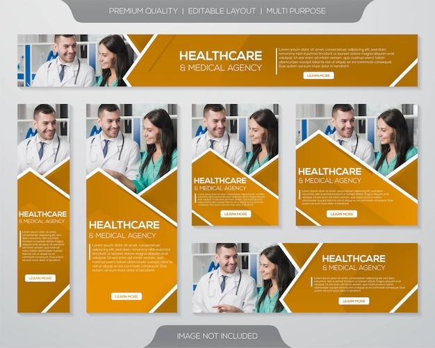 Gezondheidszorg promotie kit sjabloon